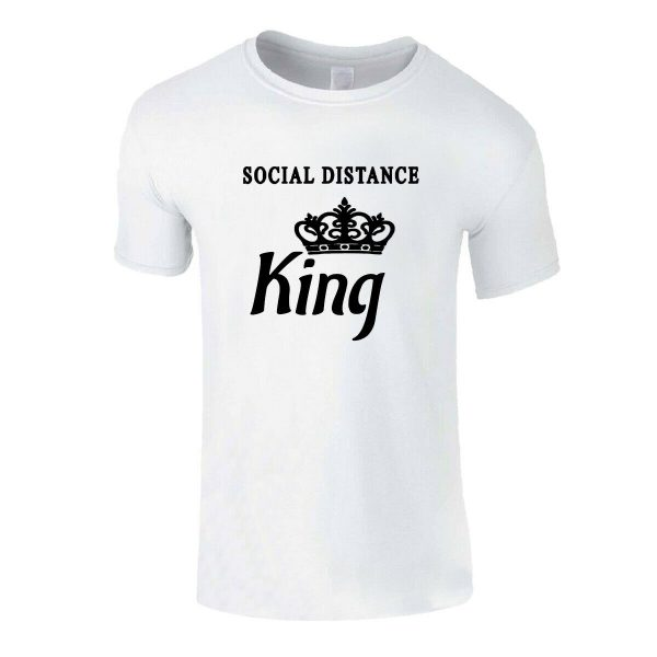 Social Distance King Self Isolation Men's T Shirt