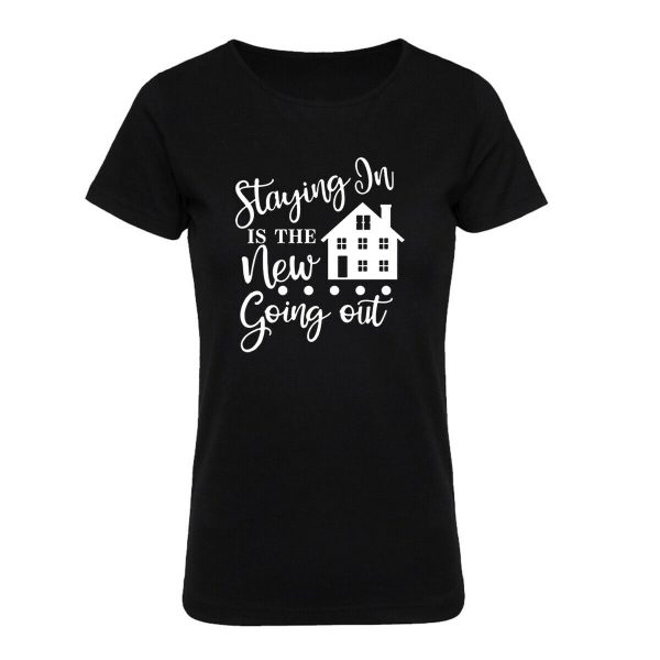 Women Social Distance Stay At Home Safe T Shirt