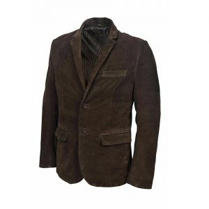 CASUAL SUEDE LEATHER CLASSIC BROWN BLAZER