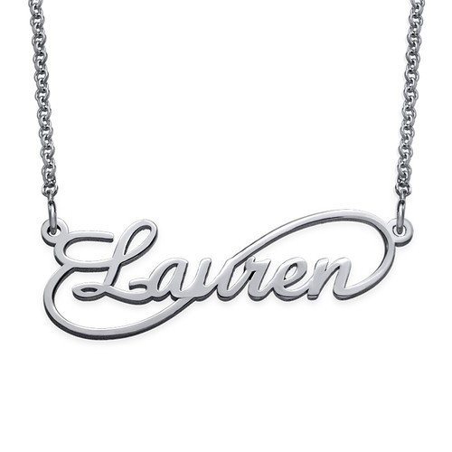 PERSONALISED INFINITY STYLE NAME NECKLACE