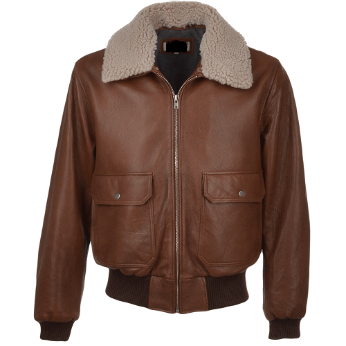 AVIATOR-FUR-COLLAR-BROWN-LEATHER-JACKET