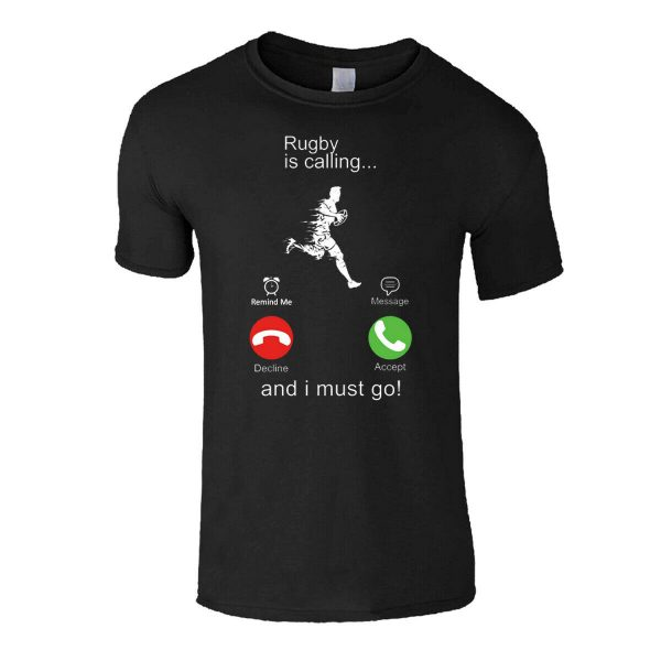 RUGBY CALLING MEN SPORTS T-SHIRT