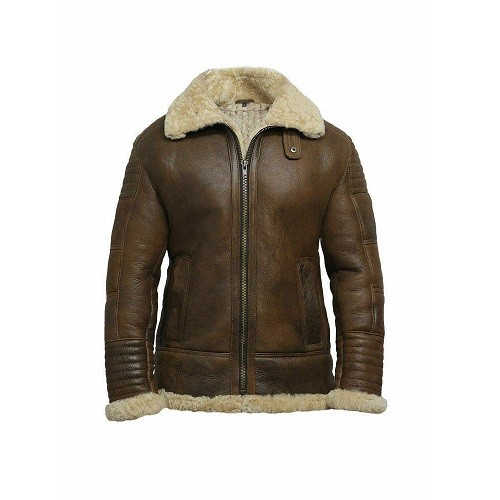 DARK-BROWN-MEN'S-SHEARLING-LEATHER-JACKET