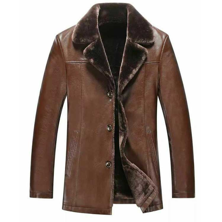 Men Leather Fur Coat