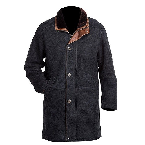 MEN'S-SUED-LONG-LEATHER-COAT
