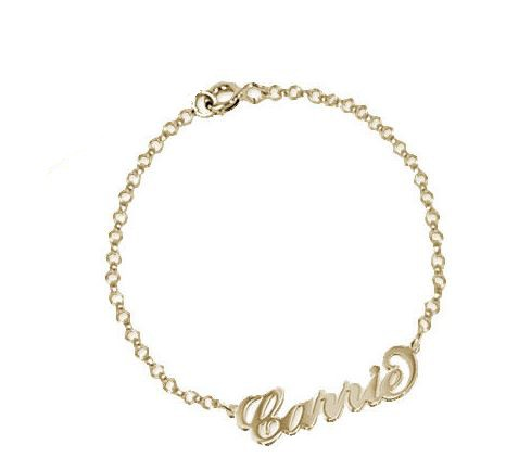 PERSONALISED CARRIE STYLE NAME BRACELET