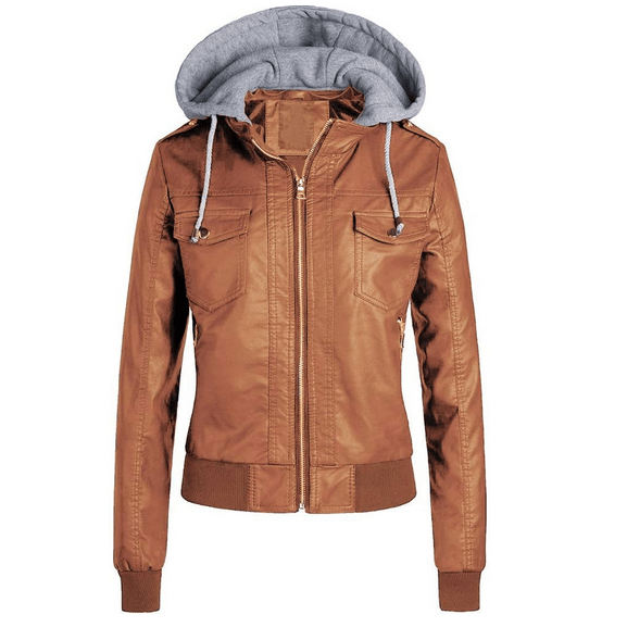 Tan-Brown-Removable-Hood-Bomber-Leather-Jacket