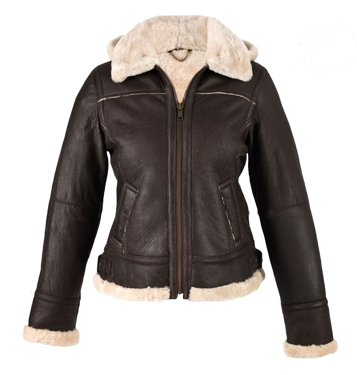 WOMEN DARK BROWN GENUINE SHEEPSKIN LEATHER JACKET