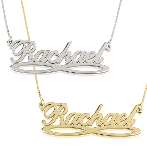 PERSONALISED INFINITY UNDERLINE NAME NECKLACE