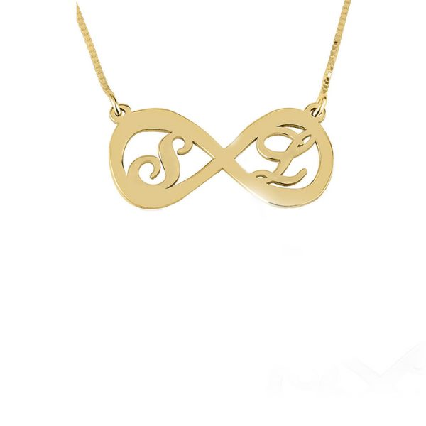 PERSONALISED TWO LETTERS INFINITY NECKLACE