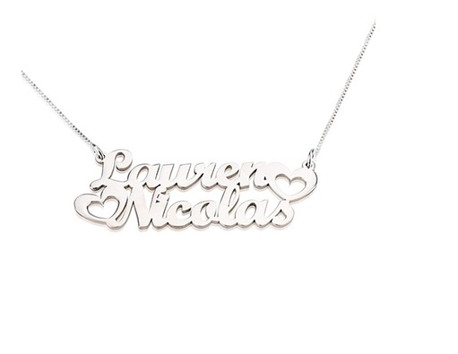 PERSONALISED TWO NAME NECKLACE