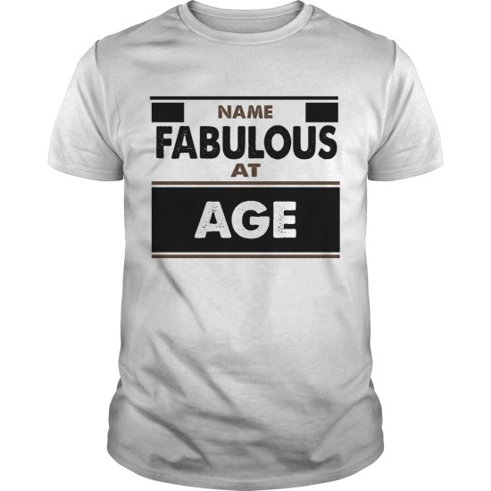 Fabulous Personalised Any Name and Age Birthday T Shirt