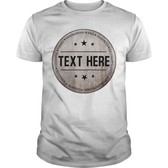 Personalised Individual Name/Text Men's T Shirt