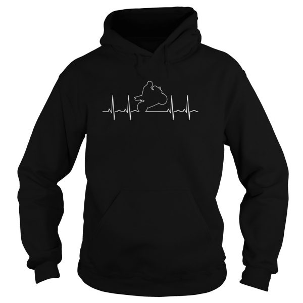 I Love Moto Biker Men's Hoodie Black