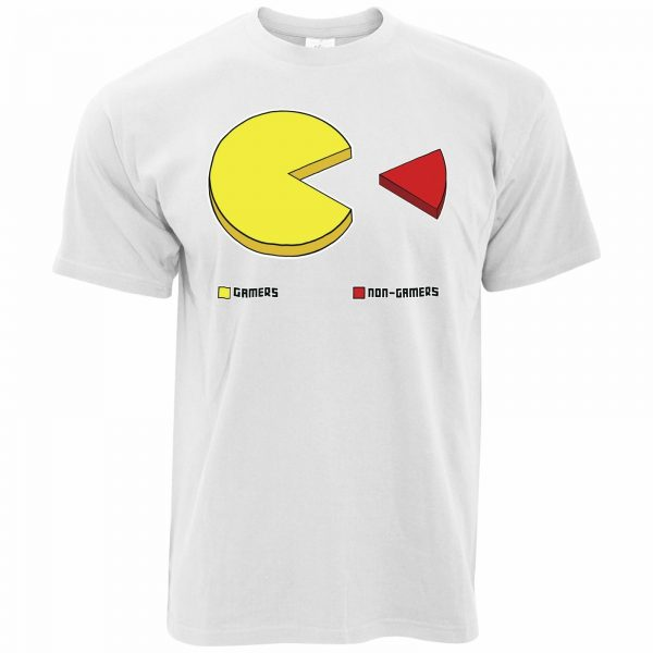 Gamers Vs Non Pie Chart Video Console Pac Man T Shirt