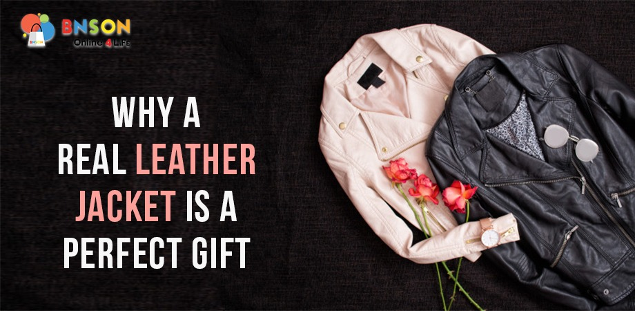 Leather jacket is a Perfect Gift Banner