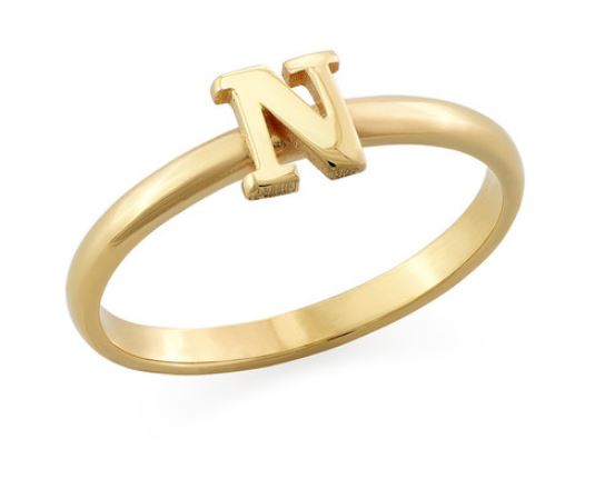 PERSONALISED INITIAL STACKING RING