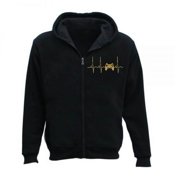 Evolution Ekg Heartbeat Gaming Men's Hoodie