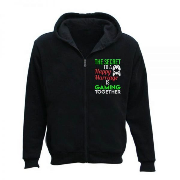 Happy Marriage Gaming Together Zipper Hoodie