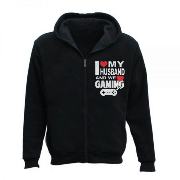 I Love My Husband And We Love Gaming Zipper Hoodie