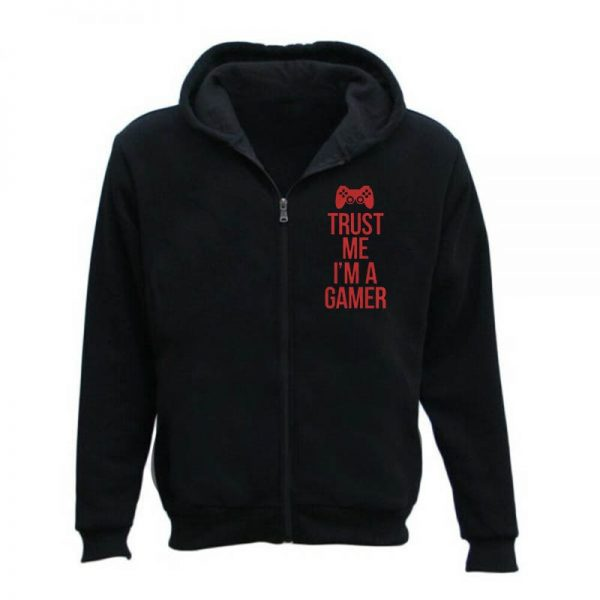Trust Me I'm A Gamer Zipper Hoodie For Men