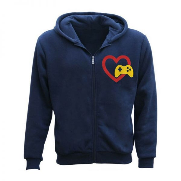 Men's Love Gaming Zipper Hoodie