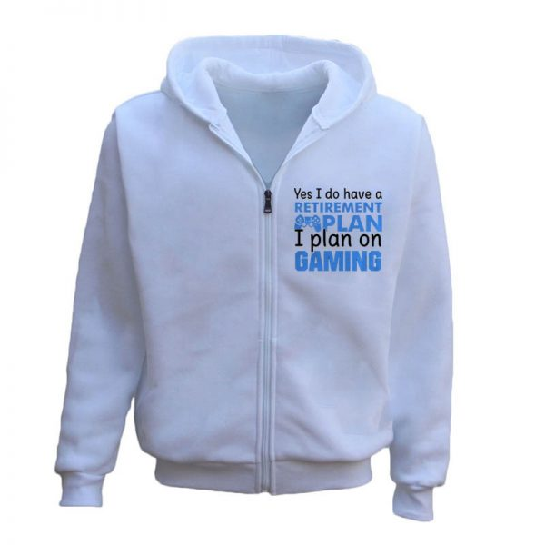 I Plan On Gaming Zipper Hoodie For Men's