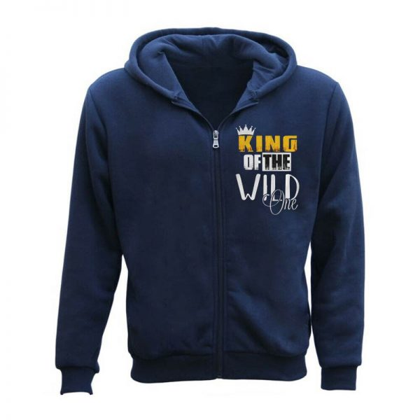 King Of The Wild One Funny Hoodie For Men