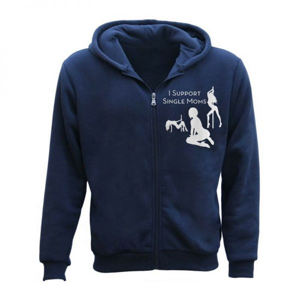 Men's I Support Single Moms Funny Hoodie