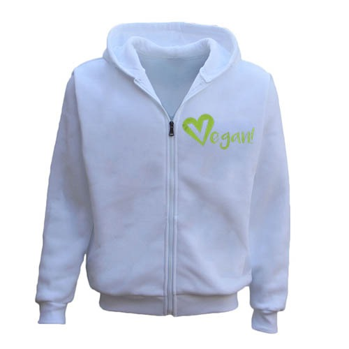Men's Vegan Vegetarian Zipper Hoodie