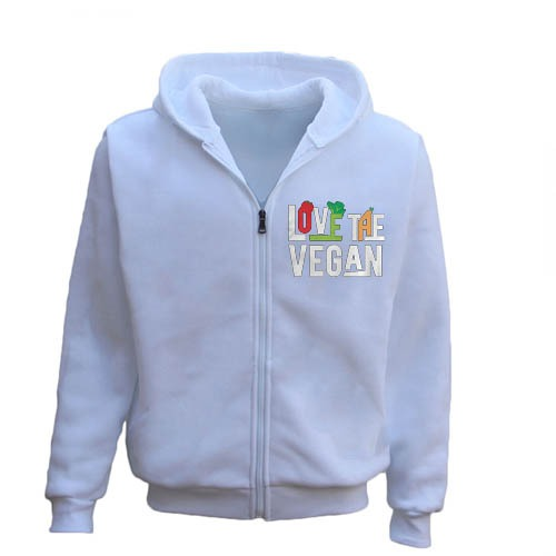 Love The Vegan Vegetarians Men's Hoodie