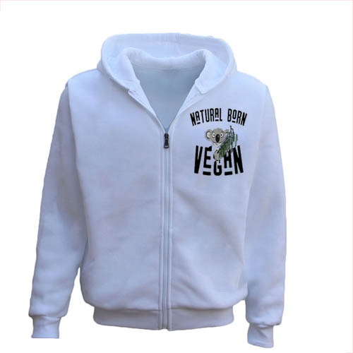 Natural Born Vegan Men's Zipper Hoodie