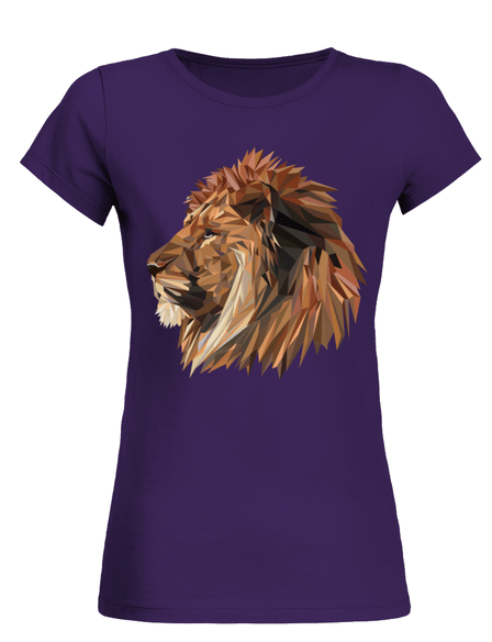 Personalised Women Vector Lion Head T Shirt