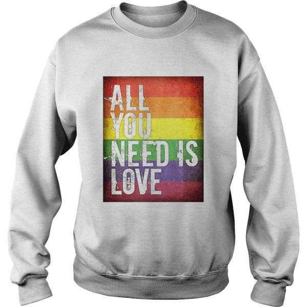All You Need Is Love Lgbt Sweat Shirt For Men's