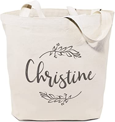 PERSONALISED NAME COTTON TOTE BAG