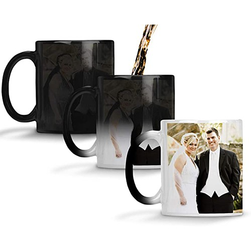 PERSONALISED HEAT SENSITIVE COLOR CHANGING COFFEE MUG
