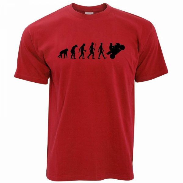 Evolution of a Motorcycle Rider Cool Funny T Shirt