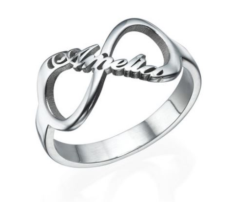 PERSONALISED INFINITY NAME RING