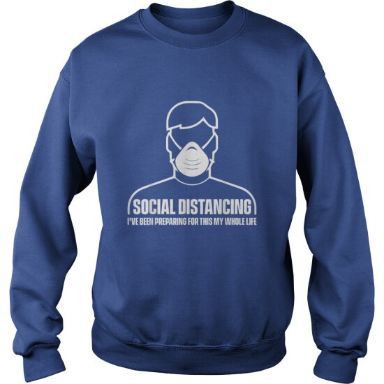 SOCIAL DISTANCING ANTISOCIAL INTROVERT - SWEAT SHIRT