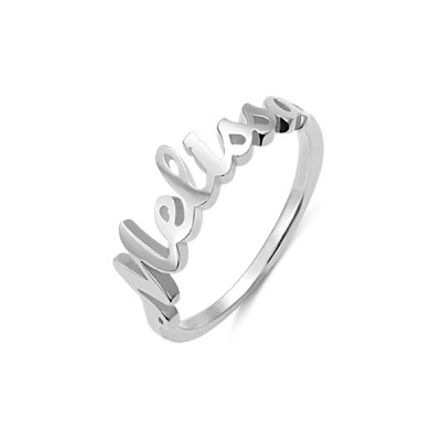 PERSONALISED SINGLE NAME RING