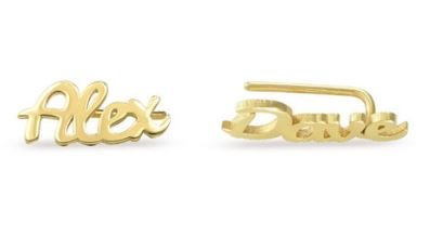 PERSONALISED CLIMBERS EARRING