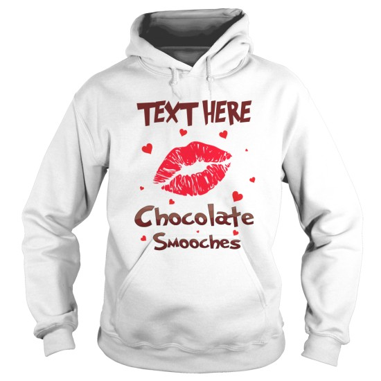 Personalised Chocolate Smooches Hoodie For Men's