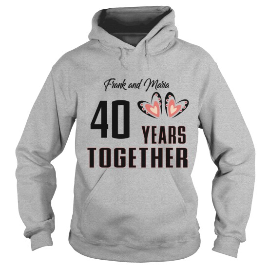 Years Together Personalise Anniversary Hoodie