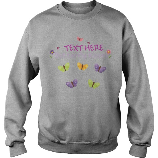 Personalised Butterfly Gardening Sweat Shirt For Men's