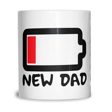 NEW DAD MUG LOW BATTERY FATHERS DAY GIFT COFFEE TEA CUP