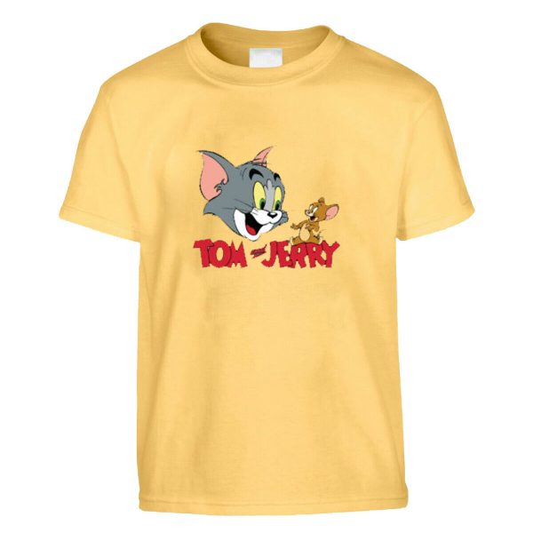 TOM & JERRY FUNNY PRINTED T-SHIRT KIDS BIRTHDAY GIFT TEES