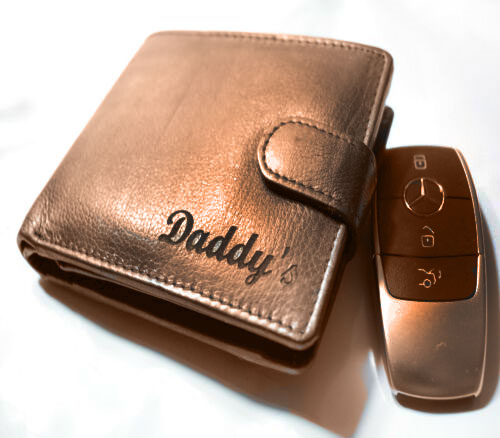 PERSONALISED MEN'S REAL LEATHER COIN BLACK WALLET BROWN