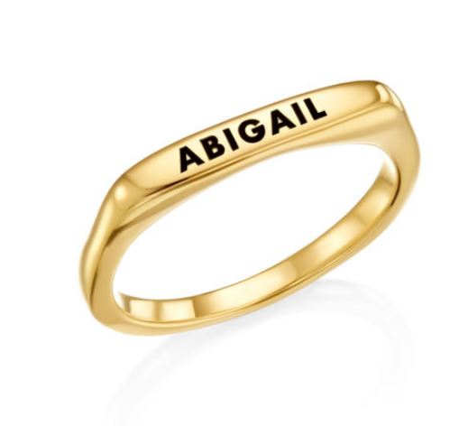 PERSONALISED RECTANGULAR NAME RING