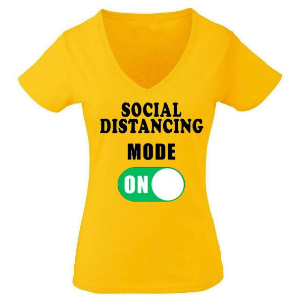 Women T Shirt Social Distance On Help To Prevent Isolation Quarantine Pandemic