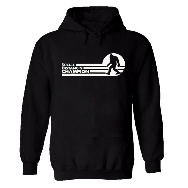 Social Distance Champion Mens Hoodie Jumper Self Isolation Panic Safety